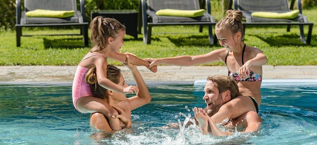 Außenpool - Familienurlaub