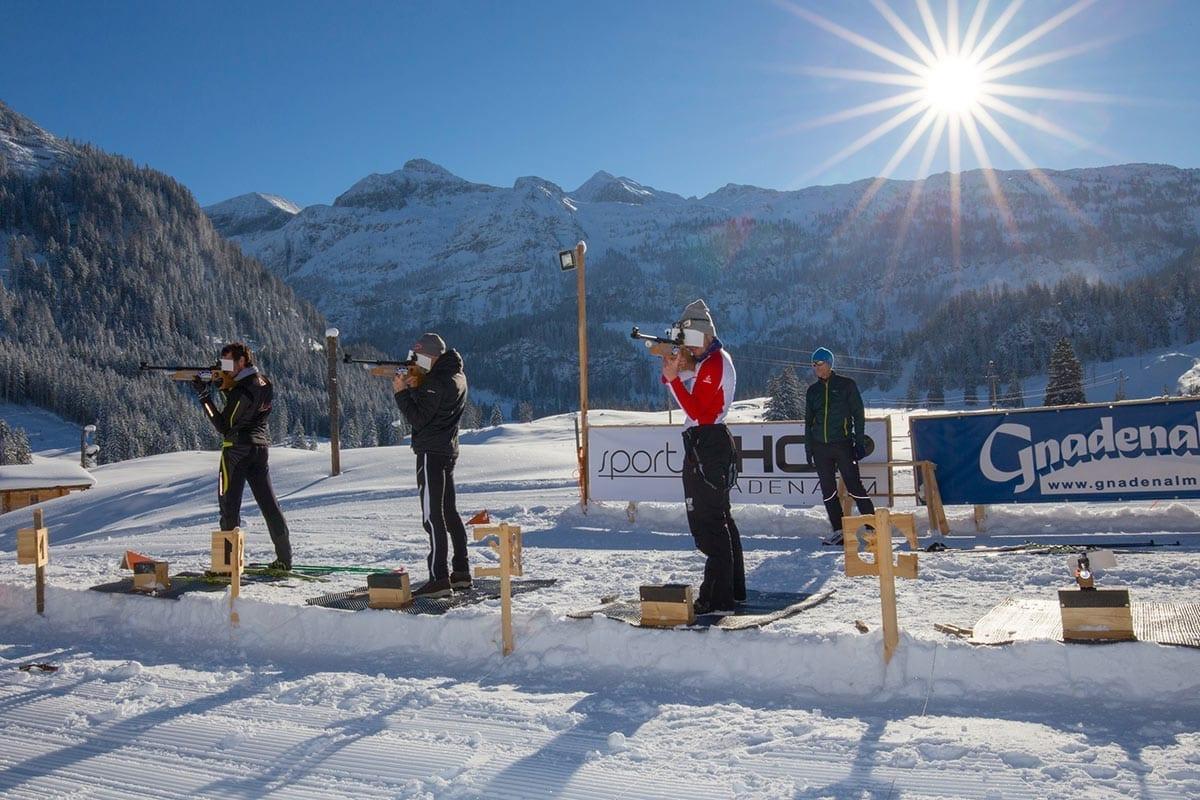 Biathlon - Freizeitmöglichkeit auf der Gnadenalm in Obertauern