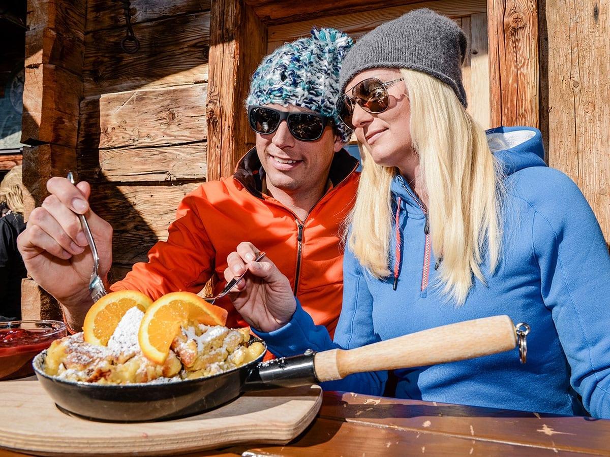 Einkehr beim Skifahren, Skigebiet Obertauern
