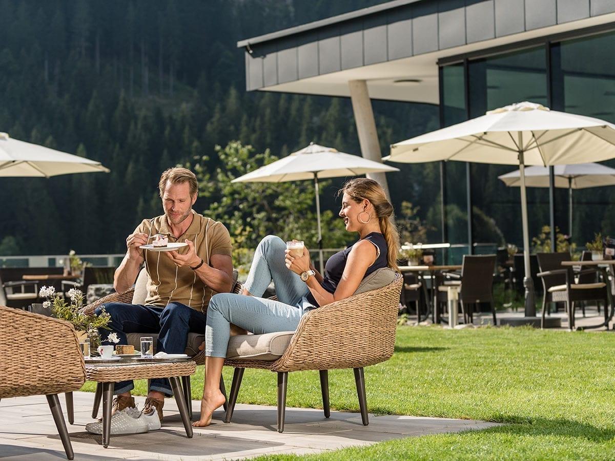 Gartenterrasse im Lürzerhof Alpin Life Resort
