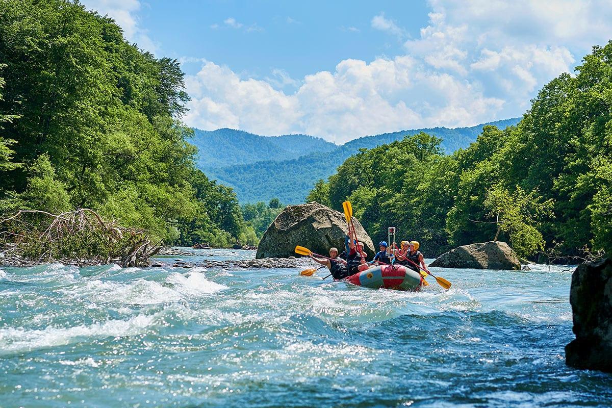 Rafting - Freizeitmöglichkeit