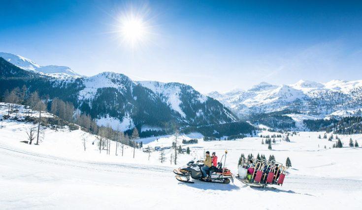 Rodelbahn mit Rodeltaxi auf der Gnadenalm in Obertauern