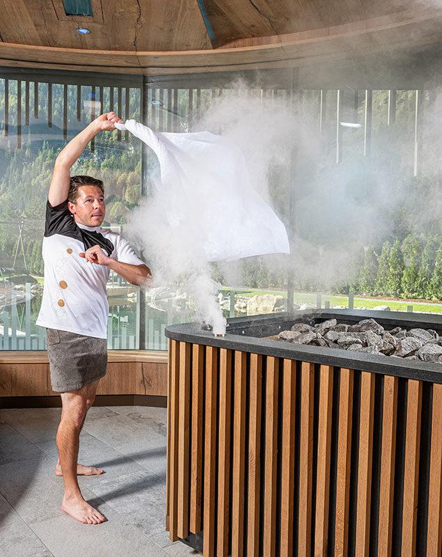 Sauna-Aufguss in der Event Sauna